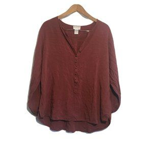Soft Surroundings Tunic Popover Top Womens Large B